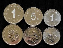 CHINA 1-5 JIAO 1 YUAN 2019. UNC Coin NEW. 3 Coin Set - China