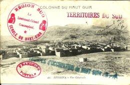Sur CPA De SFISSIFA ,cachets Des Troupes Du HAUT GUIR-Territoires Du SUD -1912 - - Marocco (1891-1956)