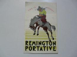VIEUX PAPIERS - PUBLICITE : REMINGTON PORTATIVE - Advertising