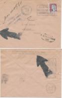 Enveloppe Lettre 1/10/1963 N.P.A.I.-retour à L'envoyeur Cachets Grosses Flèches Affranchissement Marianne Decaris 0,25 C - Marcophilie (Lettres)