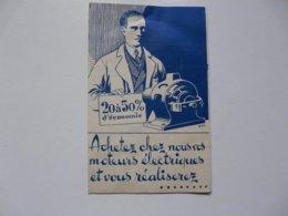 VIEUX PAPIERS - PUBLICITE : Moteurs électriques - J. EYDELNANTH - Paris 9 - Publicités
