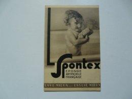 VIEUX PAPIERS - PUBLICITE : Carte Postale SPONTEX - Publicités