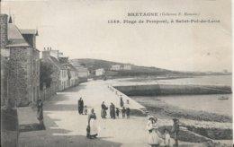 Carte Postale Ancienne De Saint Pol De Léon(29) La Plage De Pampoul - Saint-Pol-de-Léon