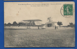 REIMS   Grand Meeting D'Aviation Plaine De BETHENY En 1910   Animées  écrite En 1910 - Reims