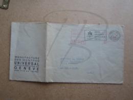 """VEND LETTRE DE SUISSE , """" PERRET & BERTHOUD """" , 1952 !!! - Covers & Documents"""