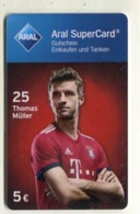 GC 10991 ARAL SuperCard - Bayern München - Thomas Müller - Tarjetas De Regalo