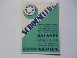 VIEUX PAPIERS - PUBLICITE : ALPHA PARIS - SCHOENFELD Frères - Publicités