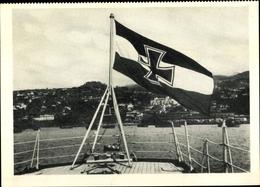 Cp Funchal Insel Madeira Portugal, Deutsches Kriegsschiff Köln, Achterdeck, Reichskriegsflagge - Bateaux