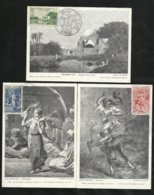Algérie  Cartes Maximum   FDC Premier Jour Le  30/11/1957  N°346 à 348 Oeuvres Sociales De L'Armée   TB Soldé ! - Lettres & Documents