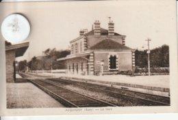 27 - Très Belle Carte Postale Ancienne De ACQUIGNY  La Gare - Acquigny