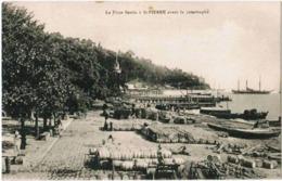 CPA MARTINIQUE - SAINT PIERRE - La Place Bertin Avant La Catastrophe - Ed. Russon - Martinique