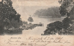 Rare Cpa Mosmans Bay Avec Bateau 1906 - Autres