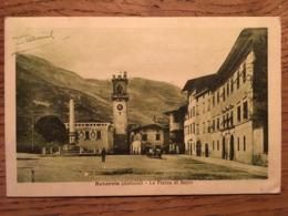 CPA, Rovoreto,  (Dintorni), Piazza Di Secco, Animée,écrite En 1918, Bleutée - Italie