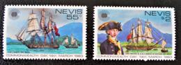 NEVIS - VISITE DE LORD NELSON 1983 - NEUFS ** - YT 108/09 - MI 88/89 - Amérique Centrale