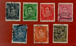 Timbre Yougoslavie N° 210 A - 211 A - 213 A - 2144 B - 215 A - 216 A - 218 A - Gebraucht