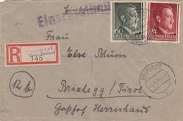Generalgouvernement (GG) Einschreiben Przemysl Nach Brixlegg/Tirol 1944 - Besetzungen 1938-45