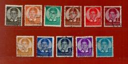 Timbre Yougoslavie N° 277 - 278 - 279 - 280 - 281 - 282 A - 283 - 284 - 285 - 286 - 288 - Gebraucht