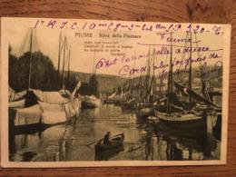 CPA (Rijeka, Croatie) Fiume (Italie), Riva Della Fiumara, écrite En 1919 - Kroatien