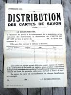 L' Après Guerre 40/45 Affiche Rationnement En Matière De Savon / 1947 / RARE - Afiches