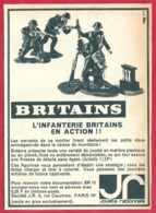 Britains. L'infanterie Britanique En Action. Miniature. 1965. - Publicités
