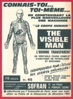 The Visible Man. L'homme Invisible. Anatomie Du Corps Humain 1965. - Publicités