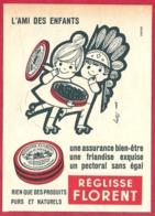 Réglisse Florent. Illustration Jean Berry. Enfants 1965. - Publicités