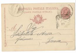 "DA TEMPIO PAUSANIA A GENOVA - AMB.POSTALE "" TEMPIO - MONTI "". - 1878-00 Umberto I"