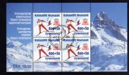 GREENLAND GRONLANDS GROENLANDIA GRØNLAND 1994 WINTER OLYMPIC GAMES LILLEHAMMER BLOCK SHEET BLOCCO FIRST DAY CANCEL FDC - Blocks & Sheetlets