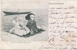 Rare Cpa Constantinople Femmes Turques Assises - Turquie