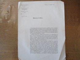 CAMBRAI LE 5 SEPTEMBRE 1845 PARQUET DU PROCUREUR DU ROI CIRCULAIRE LE PROCUREUR DU ROI J. PLEY - Historische Dokumente