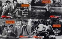NUOVE- TELECOM ITALIA- 976/1080/81/1325 SERIE ROMA E' -4 SCHEDE - Italia
