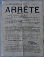 51 CHALONS SUR MARNE ARRETE Dommages De Guerre 14-18 Thieblemont Haussignemont Vitry Le Francois Tampon - Documents Historiques