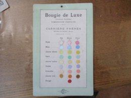 BOURG-LA-REINE CARRIERE FRERES BOUGIE DE LUXE COULEURS SURFINES COMBUSTION PARFAITE CARTON 25cm/16cm - Publicités