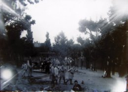 TASSIN (69) 1888 : Institution Saint Joseph, Grand Portique, Gymnastique. Plaque De Verre. Lire Descriptif. - Plaques De Verre
