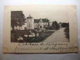 Carte Postale Vesigneux (58) Le Chateau (Petit Format Oblitérée 1905 Timbre 5 Centimes ) - Lormes
