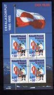 GREENLAND GRONLANDS GROENLANDIA GRØNLAND 1995 FLAG ANNIVERSARY BANDIERA BLOCK SHEET FOGLIETTO FIRST DAY CANCEL FDC - Blocks & Sheetlets