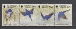 Solomon Islands SG 598-601 1987 Mangrove Kingfisher,mint Never Hinged - Solomon Islands (1978-...)