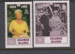 Solomon Islands SG 675-676 1990 90th Birthday Queen Mother,mint Never Hinged - Solomon Islands (1978-...)