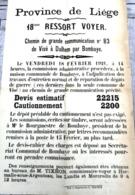 Affiche 1920 Adjudication Pour Travaux BOMBAYE Route De Visé à Dalhem Tixhon Commissaire Voyer à Hermalle Sous Argenteau - Afiches