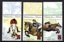Malaisie Malaysia 1245/47 Equitation , Jumping , Cheval - Jumping