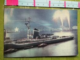 KOV 700-1 - FIREWORKS, D'ARTIFICE PYROTECHNIE, LENINGRAD, SHIP, NAVIRE - Russland