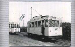 TRAM :   DEPOT  De Leerbeek    ( 18 X 13 Cm )  Scheut - Moortebeek - Photographs