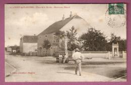 Cpa Pont De Planches Place De La Mairie Et Monument Hezard - édit H Folitot N°25 - 2 Scans - Autres Communes