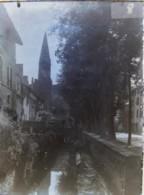 CREMIEU (38), 17 Mai 1890 : Avenue De Crémieu. Plaque De Verre. Négatif. Lire Descriptif. - Plaques De Verre