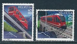 SCHWEIZ Mi. Nr. 2151-2152 Bahnjubiläen: 100 Jahre Niesenbahn, 100 Jahre Berninabahn - Used - Oblitérés