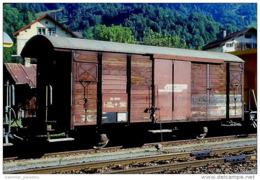 000-797) Dia (color Slide) Schweiz RhB - Xk 9075 II - Materialwagen BM 2 - Eisenbahnen