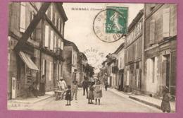 Cpa Hiersac Une Rue Animée- édit JSD N°562 - 2 Scans - Autres Communes
