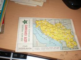 Yugoslavia Map Esperanto  Old Postcards - Esperanto