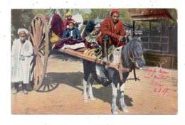RUSSLAND - Typen Aus Zentralasien, Pferdefuhrwerk, 1917 - Russland