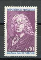 FRANCE - ALAIN RENE LESAGE - N° Yvert 1558 Belle Obliteration Ronde De MONTLUEL 1969 - France